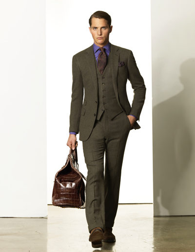 Check-wool-suit
