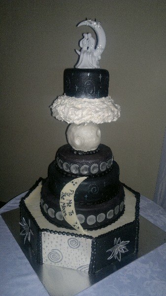 Cakes Devine -Moon Wedding Cake